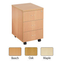 FF JEMINI 3 DRAWER MOBILE PED OAK