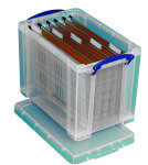 REALUSE 19LTR BOX A4 SUSPNSN FILES CLEAR