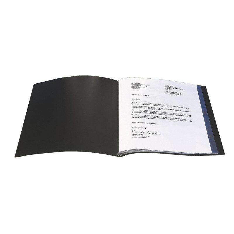 Q CONNECT PRESENTATION BOOK 100PKT BLACK