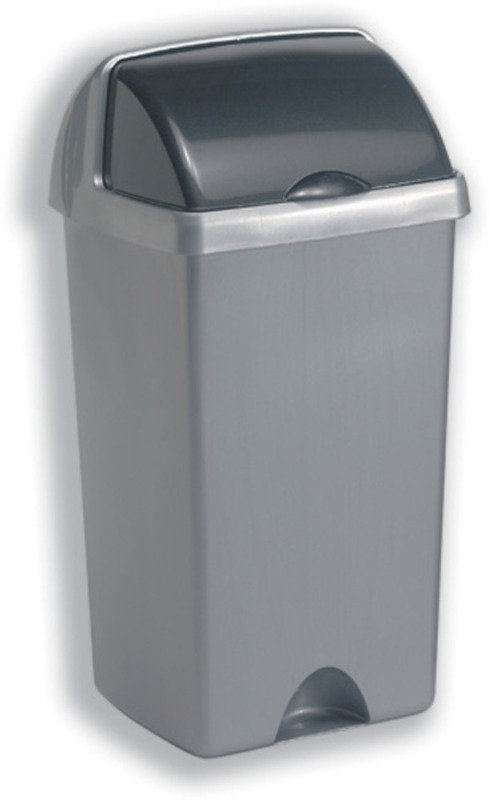 Image of ADDIS 48 LITRE ROLL TOP BIN METALLIC