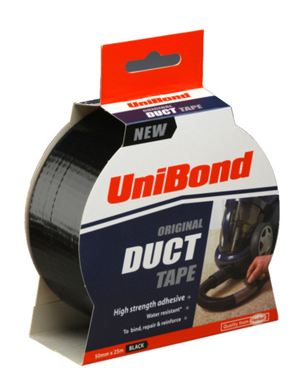 UniBond Duct Tape 50mm x25m Black