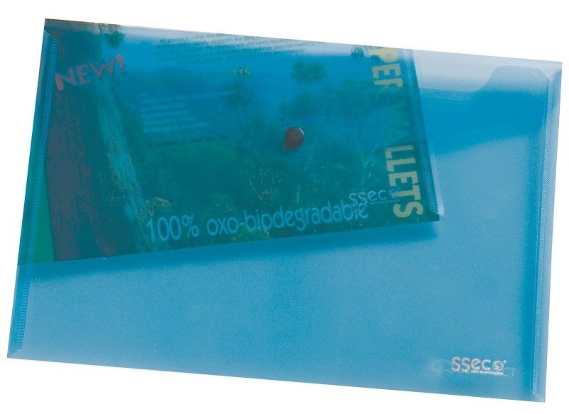 STEWART ECO POPPER WALLET PK 5 BLUE