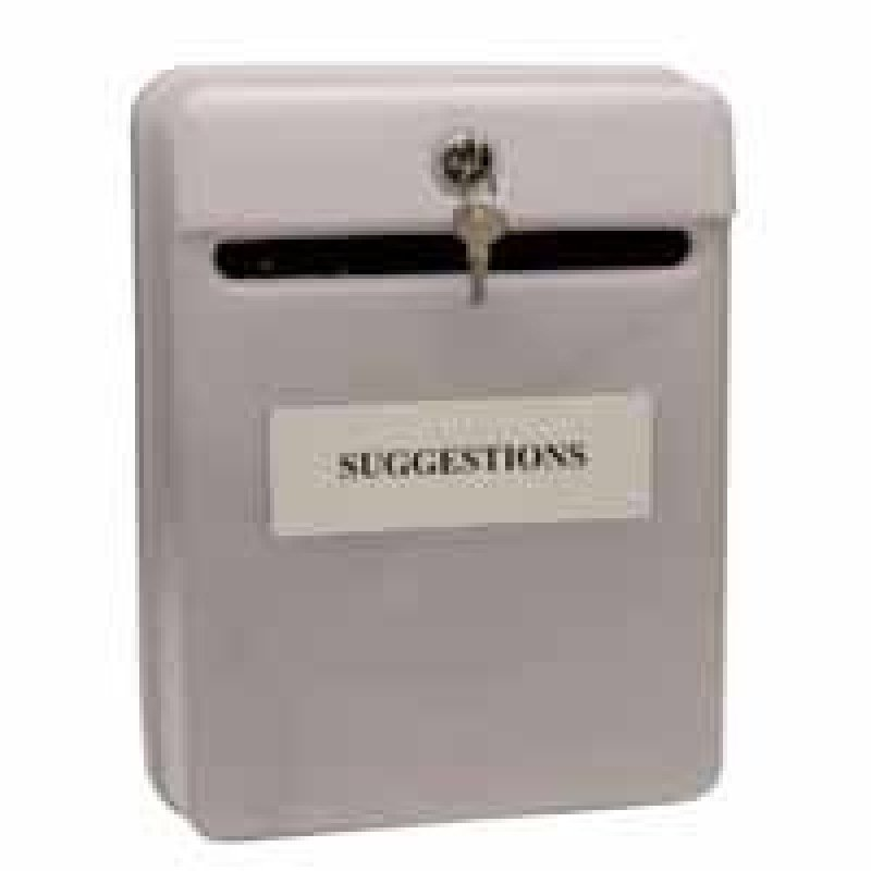 Image of HELIX POST SUGGESTION BOX GREY W81065