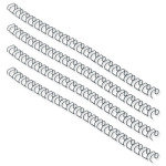 Fellowes Wire Binding Element 6mm Black 100 Pack