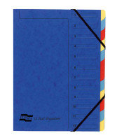 EUROPA 12PART ORGANISER BLUE 5222Z
