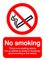 Extra Value 100x75mm Self Adhesive Safety Sign - No Smoking