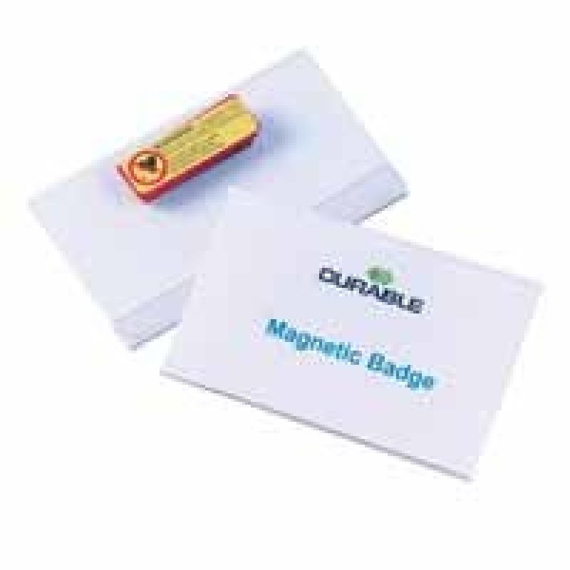 Durable Magnet Badge 54x90mm 25 Pack