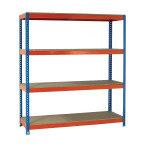 Fd Shelving Heavy Duty Painted Unit Orange/Zinc 379034