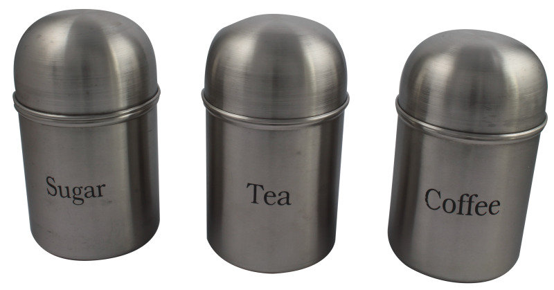 CPD Stainless Steel Kitchen Canister Set - 3 Piece