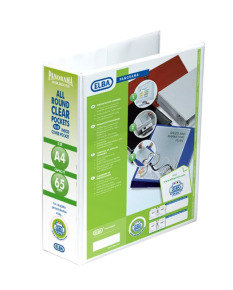 Elba Panorama Pres Laf File A4 70mm Wht - 5 Pack