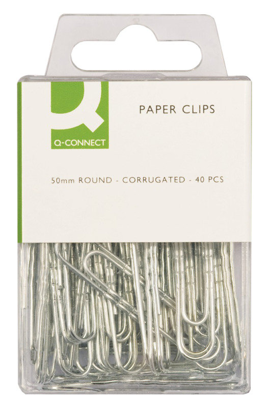 Q Connect Paper Clip 50mm Corrugated - 40 Pack