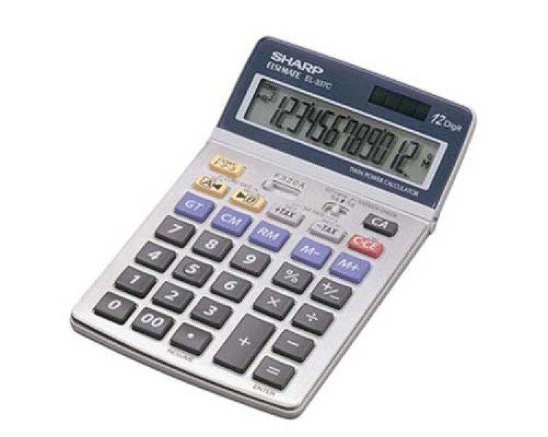 Sharp EL-337C 12 Digit Semi Desktop Calculator
