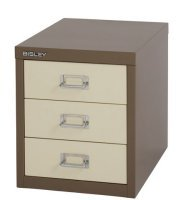 Bisley Multidrawer Non Locking 3 Drawer Cabinet - Coffe