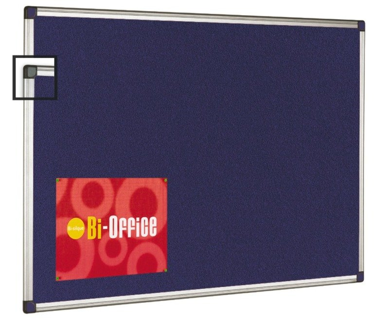 Image of BI OFFICE BLUE FELT BRD 600X900 ALUM FRM