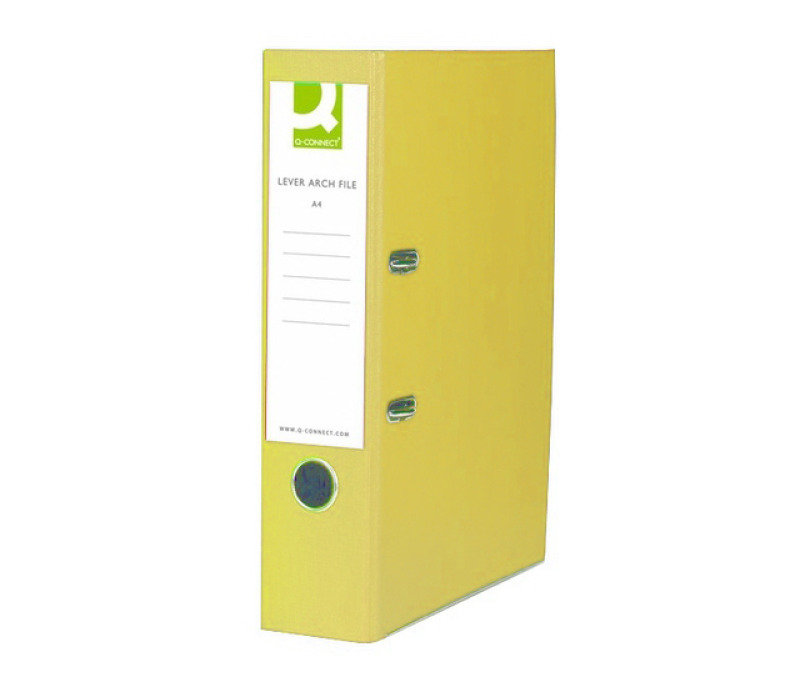 Q Connect L/arch File A4 Polyprop Yellow - 10 Pack