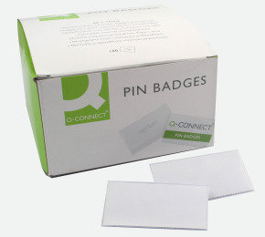 Q CONNECT PIN BADGE 40 X 75MM PK100