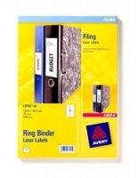 AVERY RINGBINDER LABEL 25SHT L7172