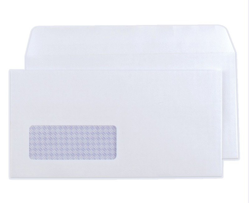 Q Connect 90g Self Seal DL Envelope - 1000 Pack