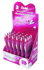 Pentel Breast Cancer Campaign Energel XM Liquid Gel Pen 24-Piece Display Black