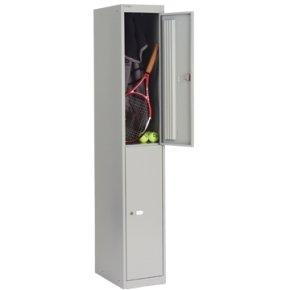 Bisley 305mm 2 Door Locker - Goose Grey