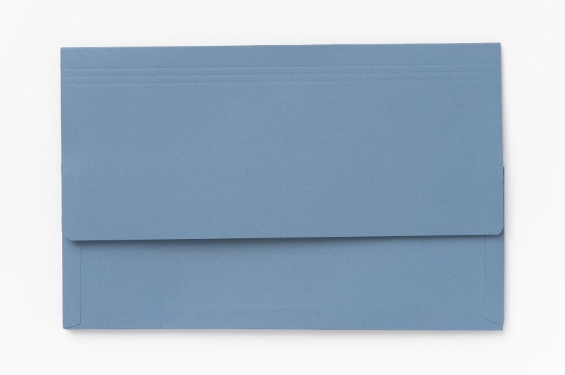 Image of Guildhall 3/4 Flap Legal Doc Wallet Blue