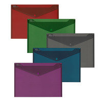 Snopake Fusion A4 Polyfile Assorted Colours - 5 Pack