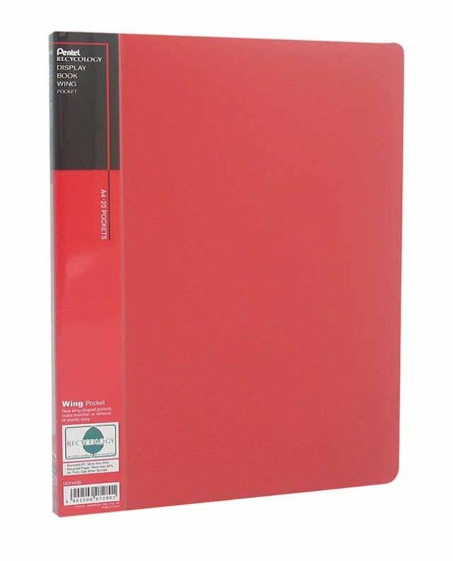 Pentel Recycology A4 Disp Bk 20pkt Red - 10 Pack