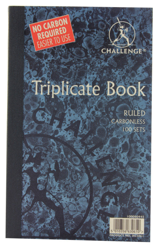Challenge Carbonless Trip Book 210x130mm - 5 Pack