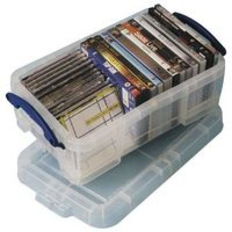 REALLY USEFUL 9 LTR BOX WITH LID CLR 9C