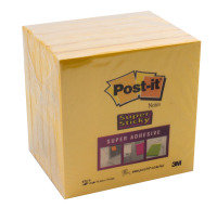 Postit Super Stickynote 76x76 Ylw 654s6 - 6 Pack