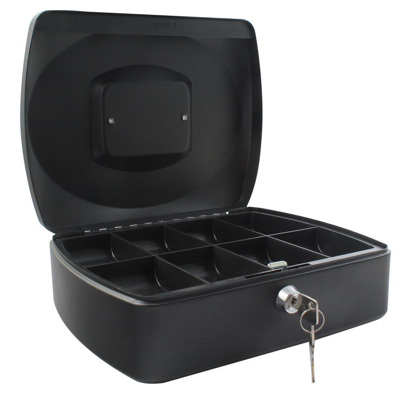 Q Connect 12 Inch Cash Box - Black