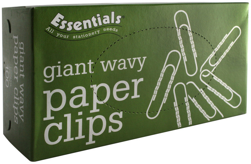 ESSENTIALS PAPERCLIP GIANT WAVY PK100