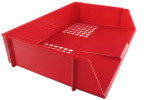 Q CONNECT WIDE ENTRY LETTER TRAY RED