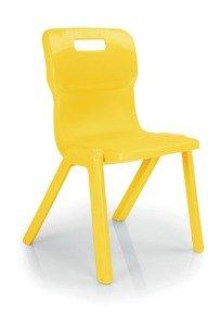 Titan 1 Piece Size 4 Classroom Chair - Yellow