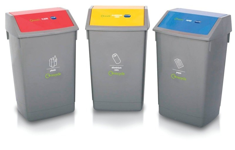 ADDIS PACK OF THREE RECYCLING BINS