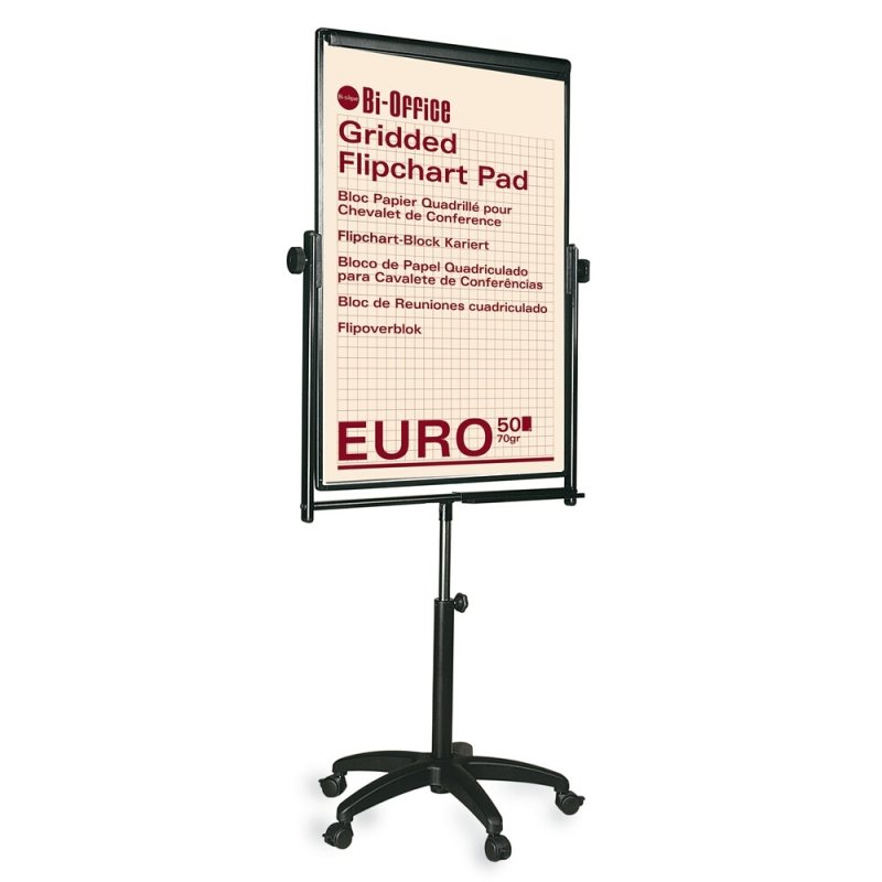 Bi-Office Black Performer Flipchart Easel