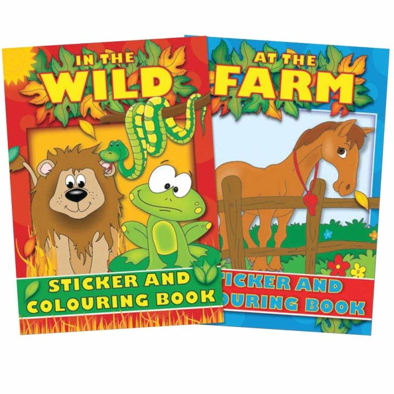 Tallon Colouring And Sticker Book 4042 - 12 Pack