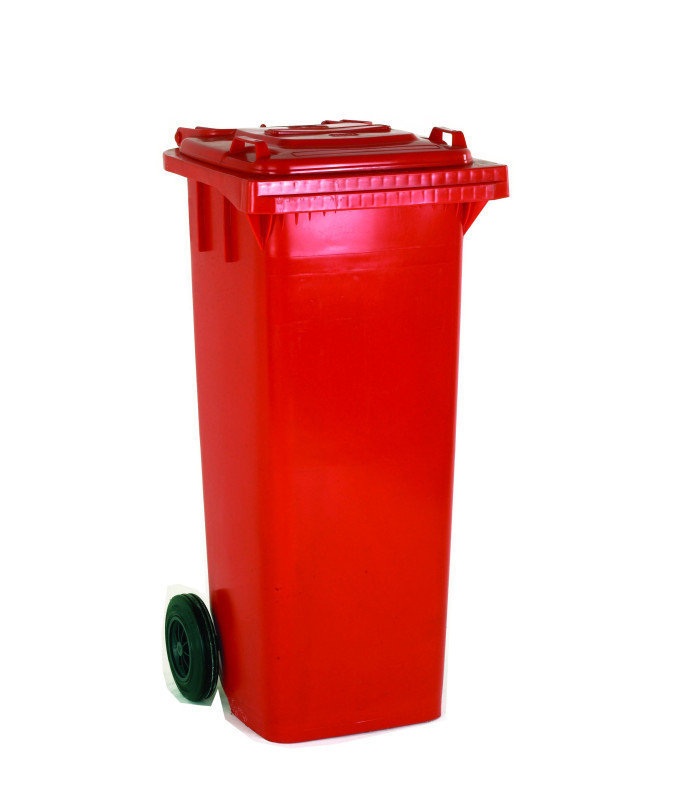 FD REFUSE CONTAINER 120L 2 WHLD RED 33