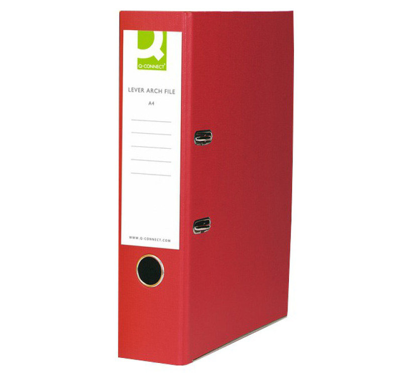 Q Connect Lach File Pprbkd A4 Red - 10 Pack