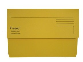 Guildhall Bright Manilla Wallet Yellow - 25 Pack