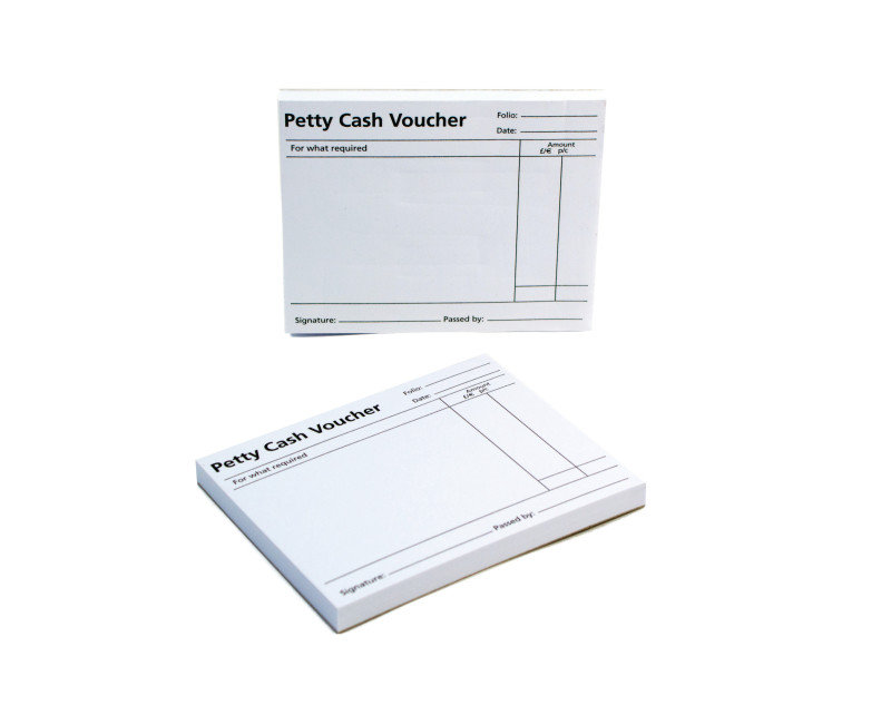 Qconnect Petty Cash Voucher Pad Petp100 - 10 Pack