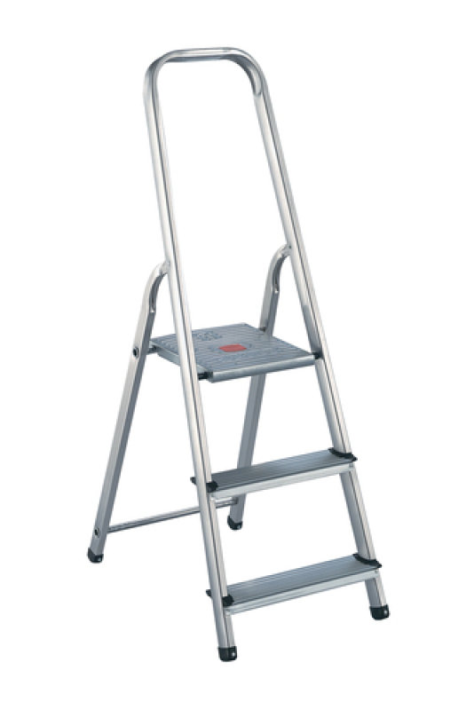 Image of 3 Step Aluminium Stepladder Lightweight aluminium and steel construction