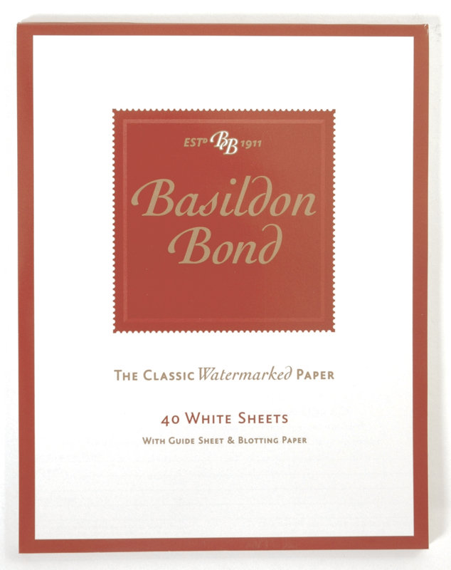 Image of Basildon Bond Med Writing Pad 40shts Wht - 10 Pack