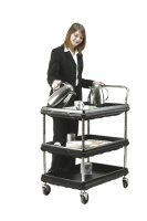 Deep Ledge Trolley 3 Tier Black W832xD546xH1041mm