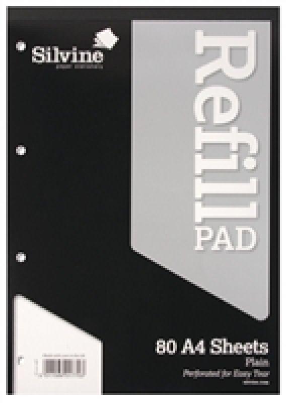 Sinclairs Refill Pad A4 80shts Pln A4rpp - 6 Pack