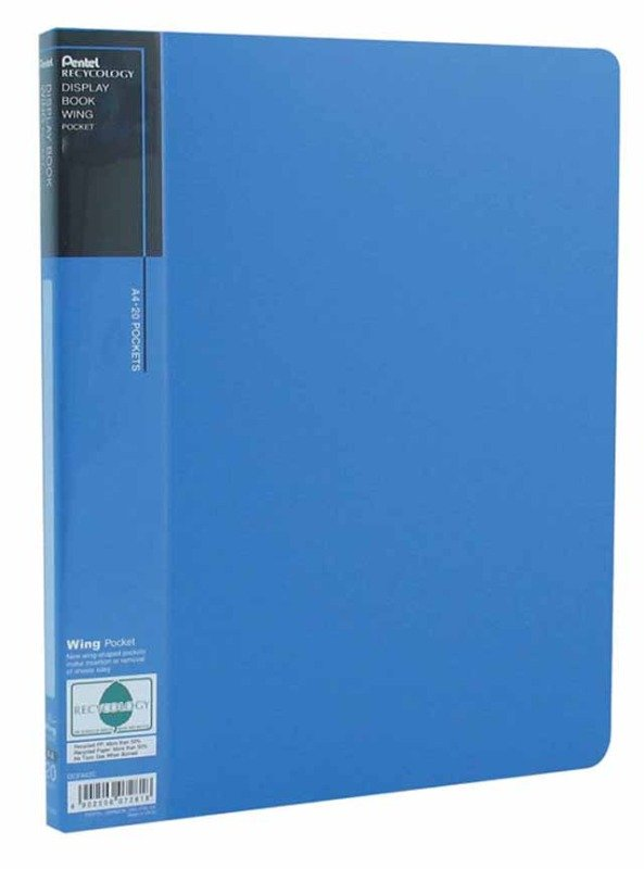 Pentel Recycology A4 Disp Bk 20pkt Blue - 10 Pack
