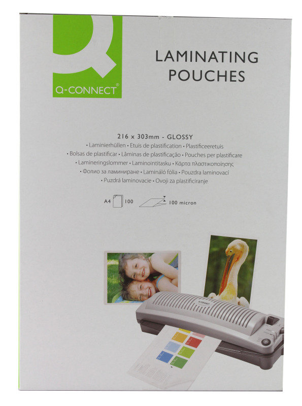 Q-Connect Laminating Pouch A4 100micron Pk 100