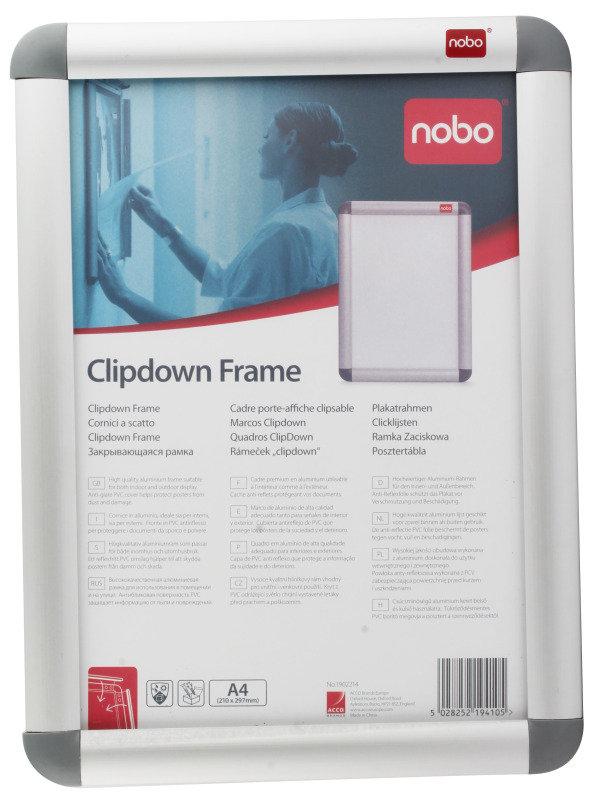 Nobo Clipframe Aluminium A4 Silver