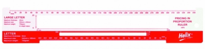 Image of HELIX POSTAL CHARGE TEMPLATE P10 RED/WHT