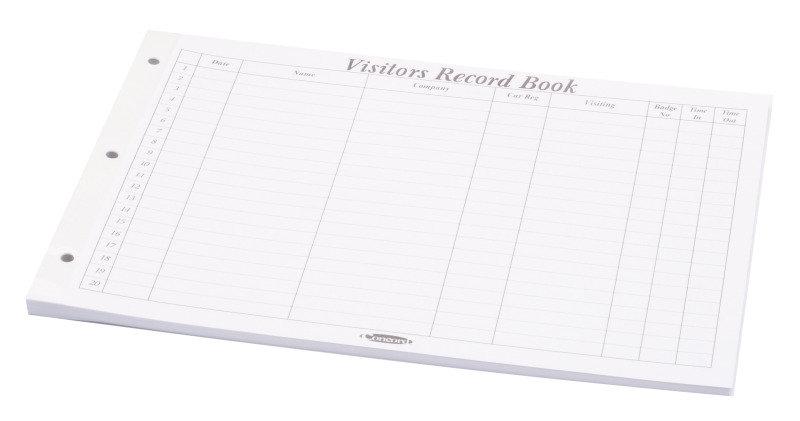 CONCORD VISITORS BOOK REFILL P50
